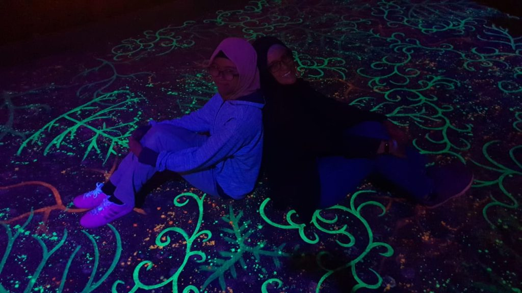 Lantai Glow in The Dark Lembang Wonderland